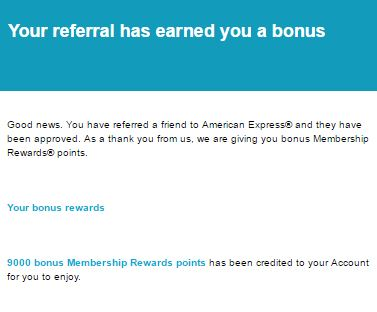 amex referral