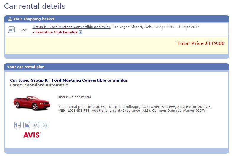 BA Avis Mustang - logged in