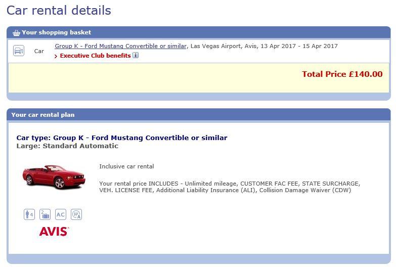 BA Avis Mustang - not logged in