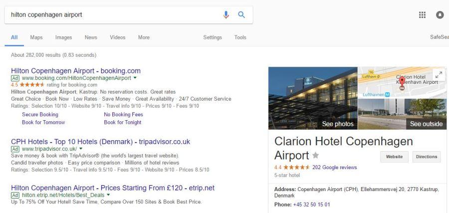 CPH Hilton google search